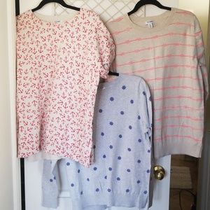 Old Navy nautical themed sweater lot XXL